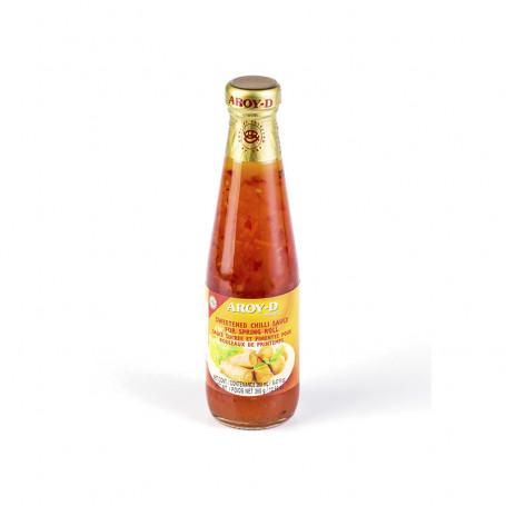 Соус сладкий чили для спринг роллов AROY-D 360 г., ст/б.